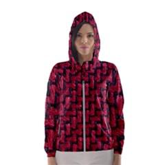 Fabric Pattern Desktop Textile Hooded Windbreaker (women) by Nexatart