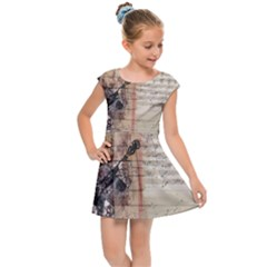 Art Collage Design Colorful Color Kids Cap Sleeve Dress by Nexatart