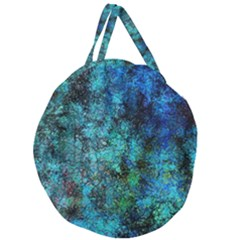 Color Abstract Background Textures Giant Round Zipper Tote