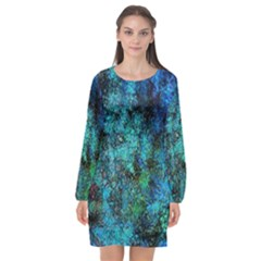 Color Abstract Background Textures Long Sleeve Chiffon Shift Dress  by Nexatart