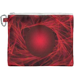 Abstract Scrawl Doodle Mess Canvas Cosmetic Bag (xxxl)