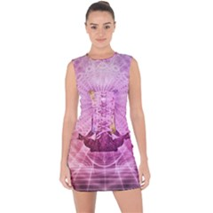 Meditation Spiritual Yoga Lace Up Front Bodycon Dress