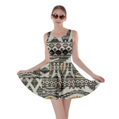 Fabric Textile Abstract Pattern Skater Dress