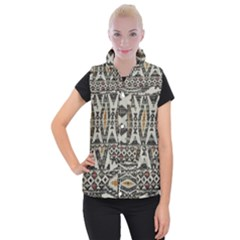 Fabric Textile Abstract Pattern Women s Button Up Vest by Nexatart