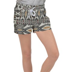 Fabric Textile Abstract Pattern Women s Velour Lounge Shorts by Nexatart