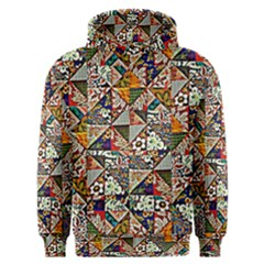 Patchwork Pattern Men s Overhead Hoodie by bywhacky