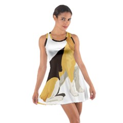 Black Yellow Dog Beagle Pet Cotton Racerback Dress