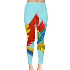 Parrot Animal Bird Wild Zoo Fauna Leggings  by Sapixe