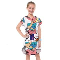 Housewife Multitasking Woman Kids  Drop Waist Dress by Sapixe
