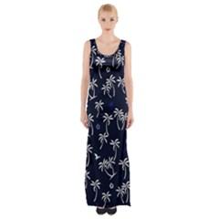 Tropical Pattern Maxi Thigh Split Dress by Valentinaart