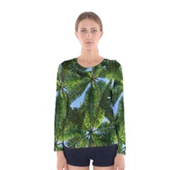Paradise Under The Palms Women s Long Sleeve Tee by CrypticFragmentsColors