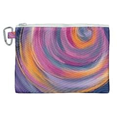 Purple Circles Swirls Canvas Cosmetic Bag (xl)