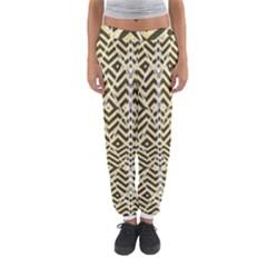 Stripes Glitter And Black Zigzags Women s Jogger Sweatpants