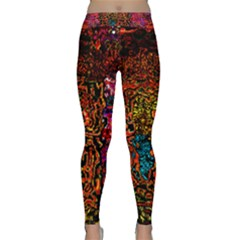 Exotic Water Colors Vibrant  Classic Yoga Leggings by flipstylezfashionsLLC