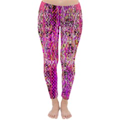 Hot Pink Mess Snakeskin Inspired  Classic Winter Leggings by flipstylezdes