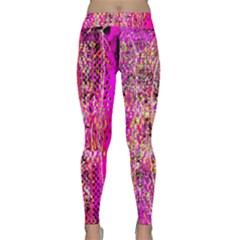 Hot Pink Mess Snakeskin Inspired  Classic Yoga Leggings by flipstylezdes