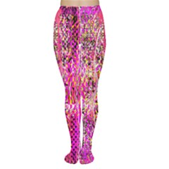 Hot Pink Mess Snakeskin Inspired  Women s Tights by flipstylezdes