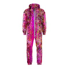 Hot Pink Mess Snakeskin Inspired  Hooded Jumpsuit (kids) by flipstylezdes