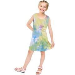 Abstract Pattern Color Art Texture Kids  Tunic Dress by Nexatart