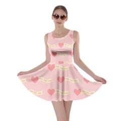 Heart Love Pattern Skater Dress