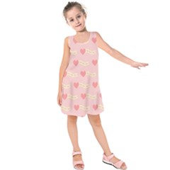 Heart Love Pattern Kids  Sleeveless Dress