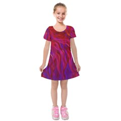 Background Texture Pattern Kids  Short Sleeve Velvet Dress