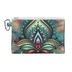Decoration Pattern Ornate Art Canvas Cosmetic Bag (large)