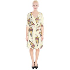 Pattern Sweet Seamless Background Wrap Up Cocktail Dress