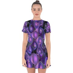 Abstract Pattern Fractal Wallpaper Drop Hem Mini Chiffon Dress by Nexatart