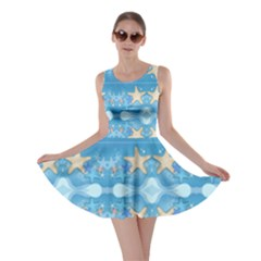 Adorably Cute Beach Party Starfish Design Skater Dress by flipstylezdes