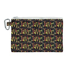 Love Canvas Cosmetic Bag (large) by ArtworkByPatrick1