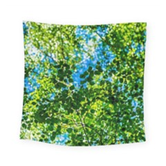 Forest   Strain Towards The Light Square Tapestry (small) by FunnyCow
