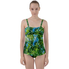 Forest   Strain Towards The Light Twist Front Tankini Set by FunnyCow