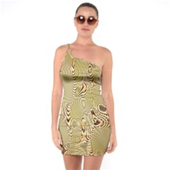 Pattern Abstract Art One Soulder Bodycon Dress by Nexatart