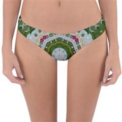 Fantasy Jasmine Paradise Love Mandala Reversible Hipster Bikini Bottoms by pepitasart