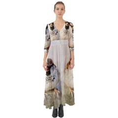 Do Not Mess With Sparrows Button Up Boho Maxi Dress by FunnyCow