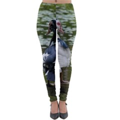 Muscovy Ducks At The Pond Lightweight Velour Leggings by IIPhotographyAndDesigns