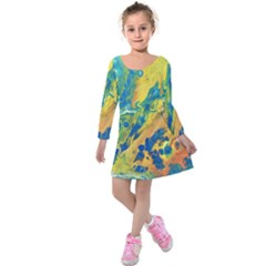 Sunfire Kids  Long Sleeve Velvet Dress by lwdstudio