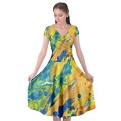 Sunfire Cap Sleeve Wrap Front Dress by lwdstudio