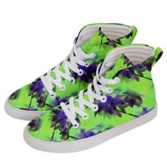 Palm Trees Lime In The Coconut Men s Hi Top Skate Sneakers by CrypticFragmentsColors