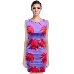 Palm Trees Neon Nights Classic Sleeveless Midi Dress by CrypticFragmentsColors