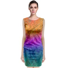 Fractal Batik Art Hippie Rainboe Colors 1 Classic Sleeveless Midi Dress by EDDArt