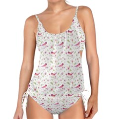 Watercolor Birds Magnolia Spring Pattern Tankini Set by EDDArt