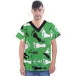 GREEN Men s V-Neck Scrub Top