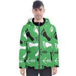 GREEN Men s Hooded Puffer Jacket
