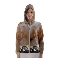 Silkie Chick  Hooded Windbreaker (women) by IIPhotographyAndDesigns