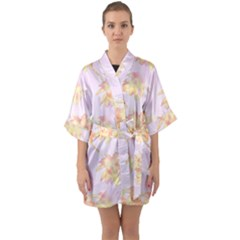 Palm Trees Tropical Summer Heat Quarter Sleeve Kimono Robe by CrypticFragmentsColors