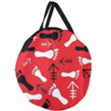RED SWATCH#2 Giant Round Zipper Tote View1