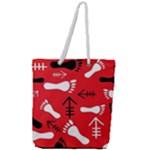 RED SWATCH#2 Full Print Rope Handle Tote (Large)