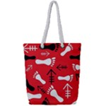 RED SWATCH#2 Full Print Rope Handle Tote (Small)